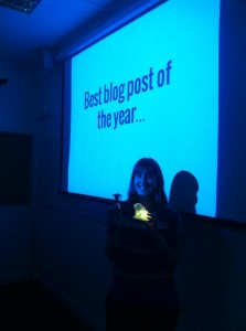 Best blog post: Deirdre McClean